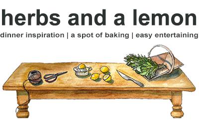 herbs and a lemon
